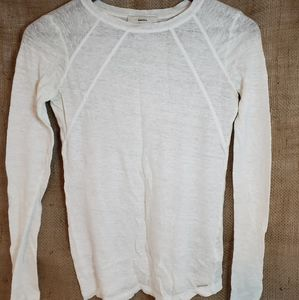 Diesel linen long sleeve top extra small